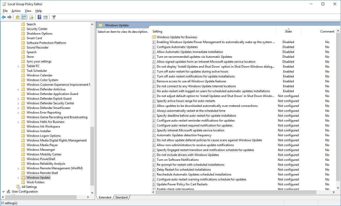 Windows Updates - vypnutí aktualizací
