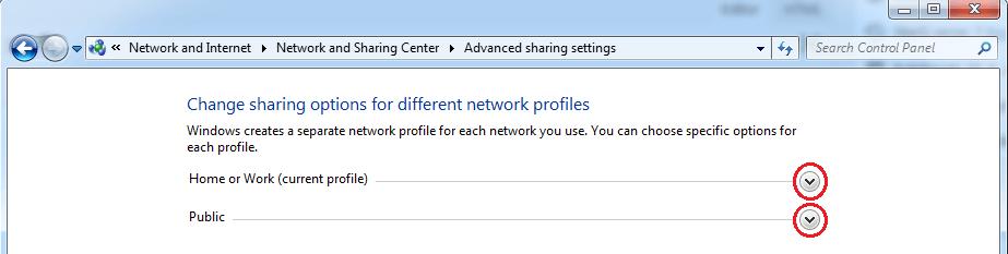sítové profily