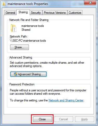 Sdílení složek windows