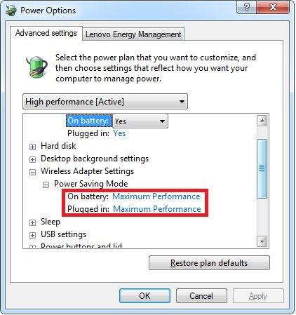 Možnosti napájení - maximum performace