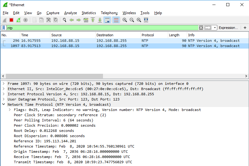 Konfigurace NTP serveru