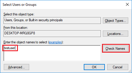 select user or groups