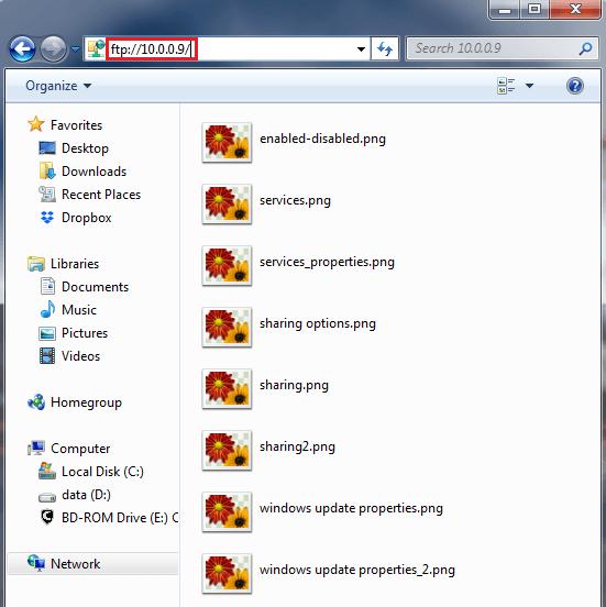 windows - ftp server