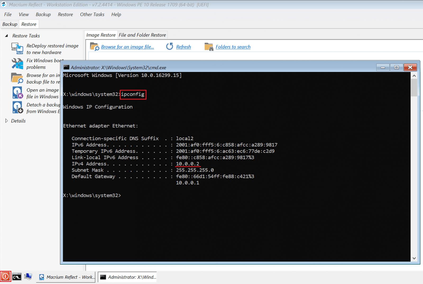 ipconfig backup