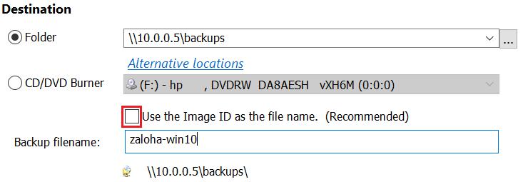 Záloha dat po síti - backup