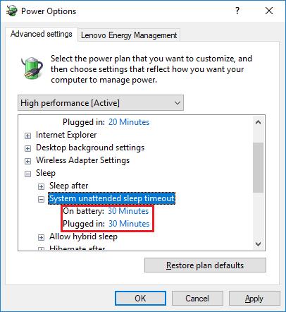 WIN10 - Jak zrušit automatické odhlašování uzivatele