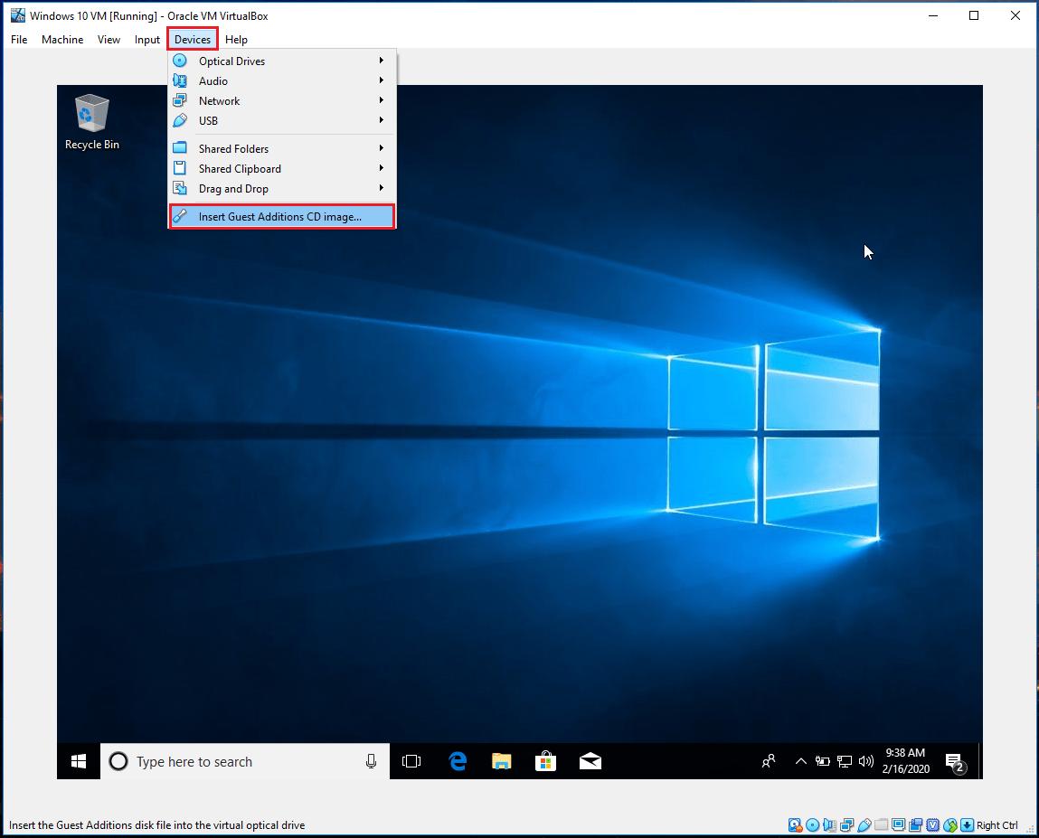 VirtualBox - Přizpůsobení rozlišení