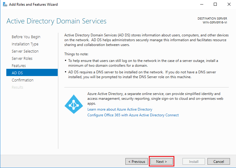 Active Directory Domain Services - AD DS