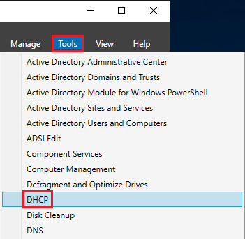 tools DHCP
