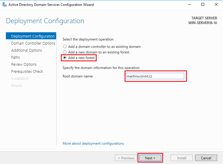 Active Directory - add a new forest