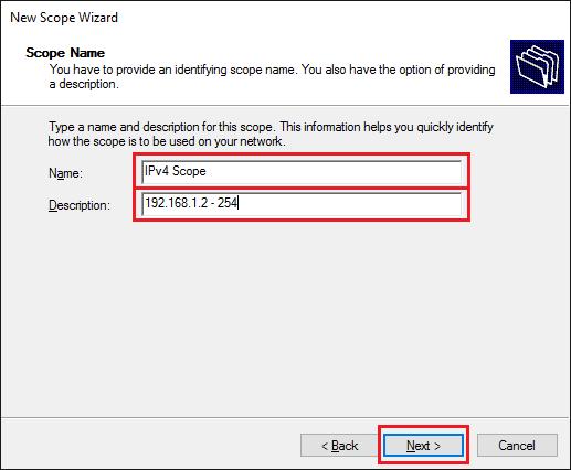 Windows Server 2016 - Konfigurace DHCP, Configure DHCP