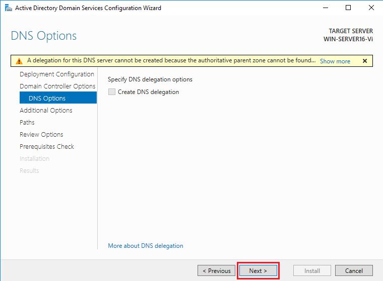 DNS options