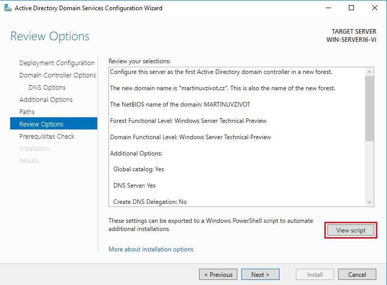Active Directory powershell script