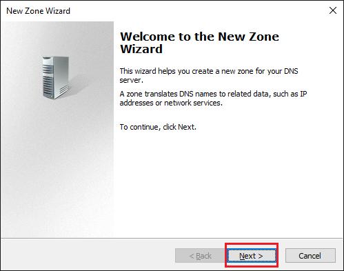 Vytvoření DNS zóny (Create DNS zone)