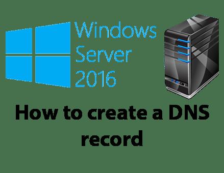 create a dns record