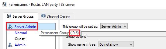 Server Admin ID