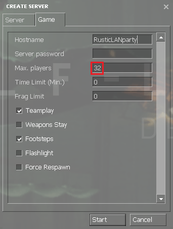 Half Life 2 maxplayers