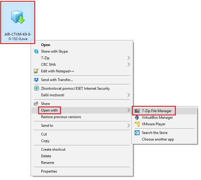 Import Virtual Cisco WLC to VirtualBox