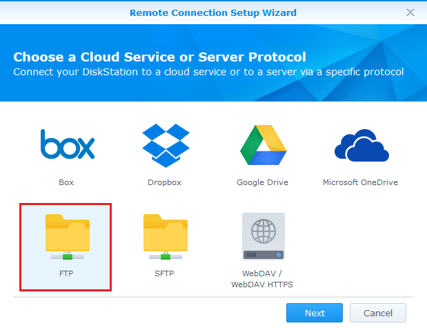 Synology FTP client