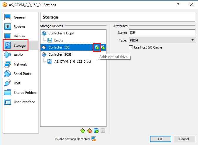 VirtuaBox - Controller: IDE